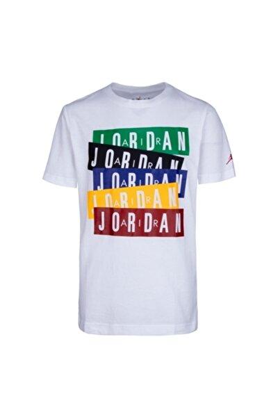 Erkek Çocuk Beyaz Jordan Jordan Stack Tişört 95a069-001