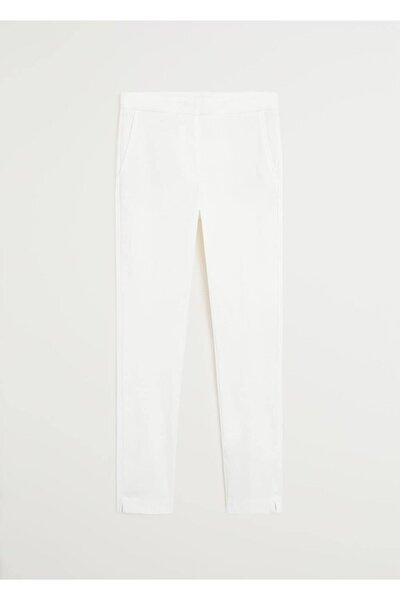 Kadın Kırık Beyaz Kısa Paçalı Skinny Pantolon 67080514