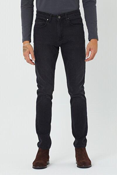 Erkek Koyu Füme Slim Fit Essentials Jean