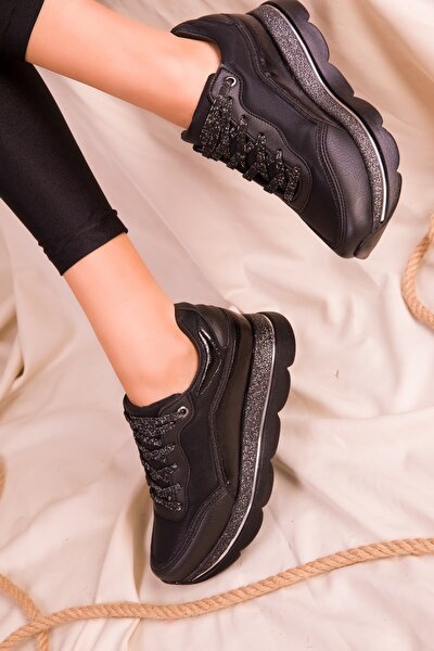 Siyah-Siyah Kadın Sneaker 15666