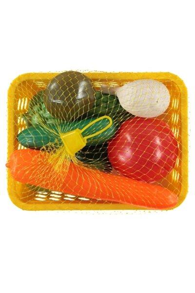 Mutfak Gereçleri Set Yiyecekler Sepetli