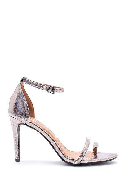 Kadın Antrasit Metalik Topuklu Ayakkabı