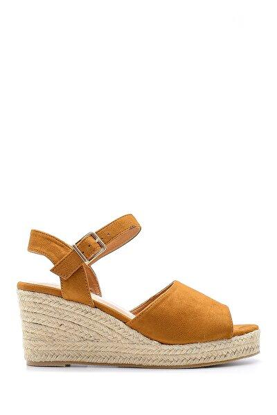 Kadın Kahverengi Dolgu Topuklu Sandalet