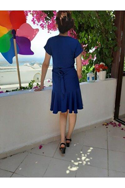 Kadın Lacivert Yarım Kollu Elbise