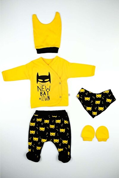 Erkek Bebek Batman 5 Li Set