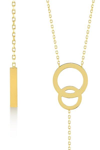Gelin Diamond 14 Ayar Altın Sallantılı Çubuk Kolye