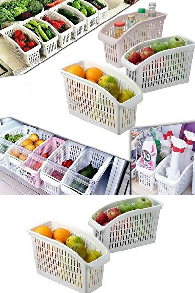 3'lü Buzdolabı Düzenleyici Organizer Sebze Ve Meyvelik 3 Adet