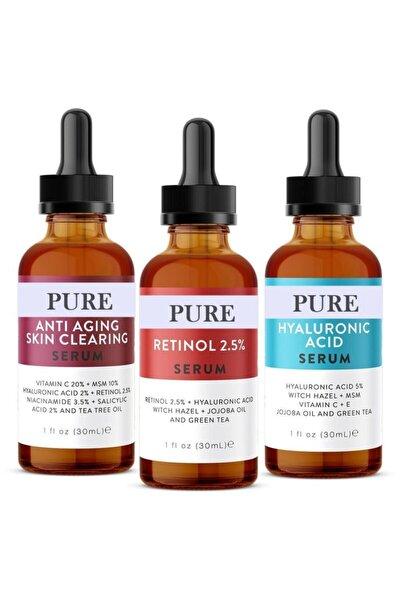 3'lü Serum -anti Aging-retinol-hyaluronic Asit Serum