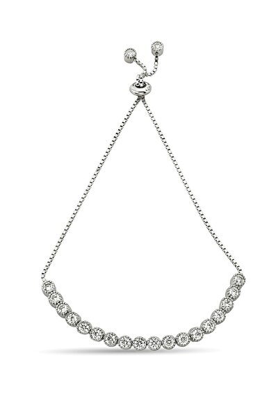 Kadın Gümüş Asansörlü Su Yolu Bileklik - B076501