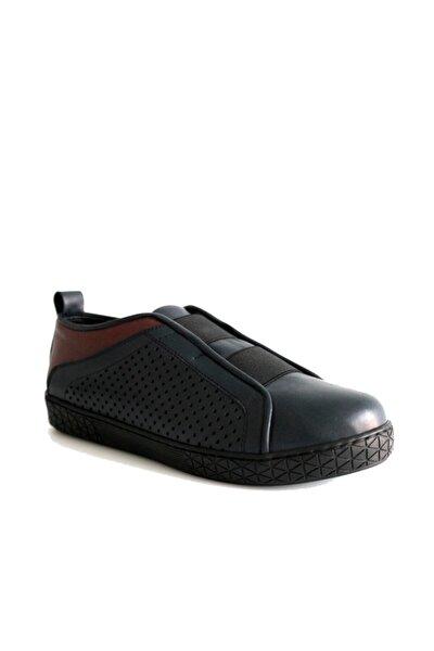 Kadın Hakiki Deri Günlük Ayakkabı Lacivert
