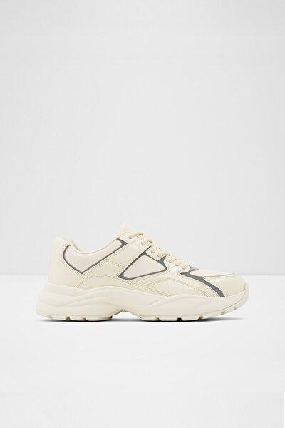 Kadın Krem Bağcıklı  Sneaker