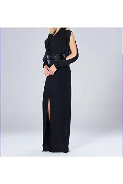 Kadın Siyah Kruvaze Elbise