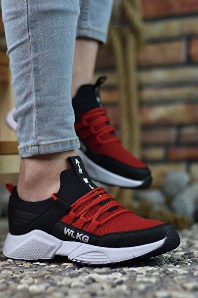 Erkek Siyah Kırmızı  Sneaker