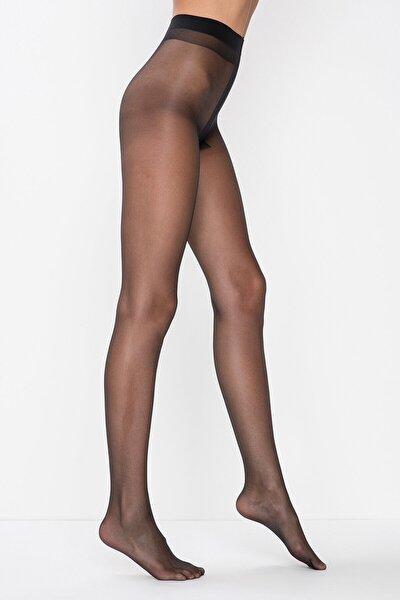 Kadın Siyah Yok Gibi 5 Den Ultra Ince Parlak Burnu Şeffaf Külotlu Çorap