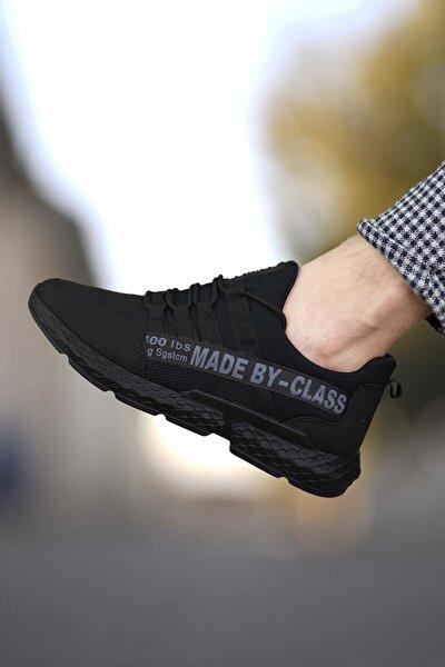 Erkek Siyah Cilt Sneaker 0012santo