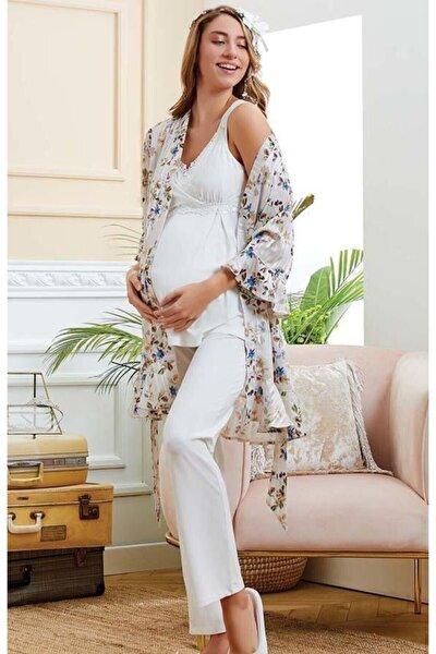 Kadın 20530 Sabahlıklı Pijama Takımı