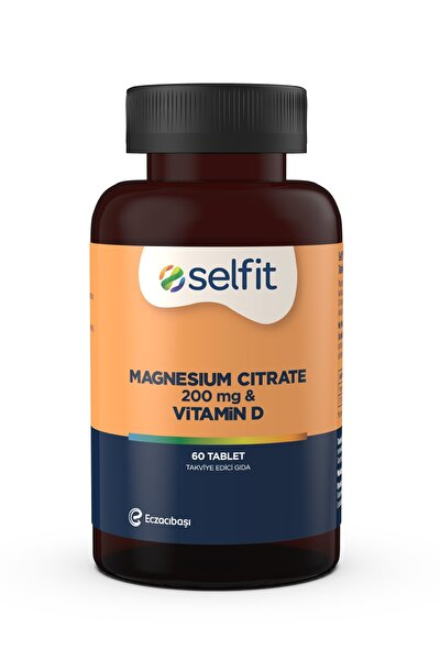Magnesium Citrate 200 Mg & Vitamin D 60 Tablet