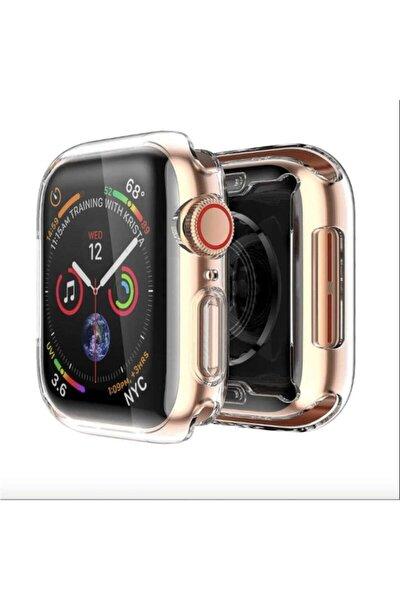 Apple Watch 38 Mm Uyumlu Şeffaf Silikon Kılıf 38mm Tam Koruma Koruyucu