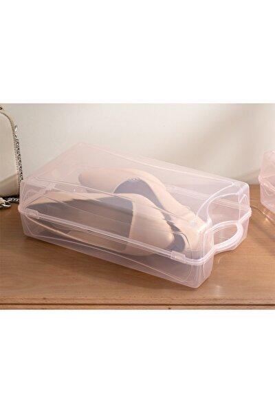 Pudra Loya Plastik Kadın Ayakkabı Saklama Kutusu 33x18x10cm