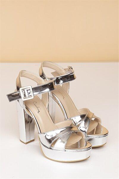 Pc-50165 Rugan Gümüş Kadın Ayakkabı