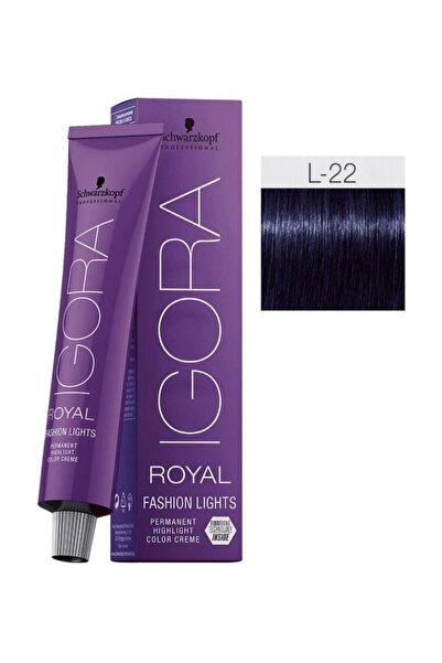 Igora Royal Fashion Lights L-22 Yoğun Küllü (oksidansız)