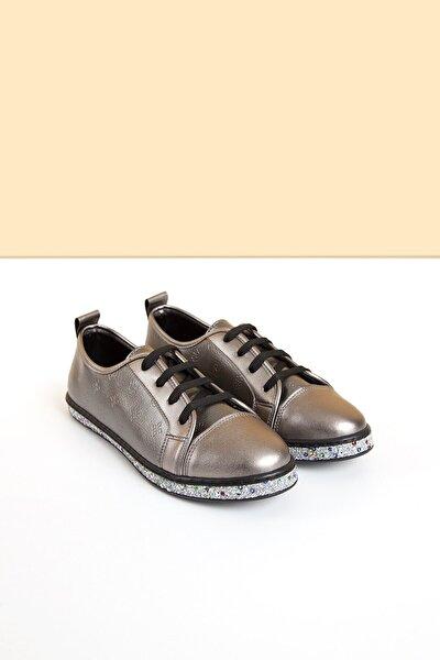 PC-50616 Platin Kadın Ayakkabı