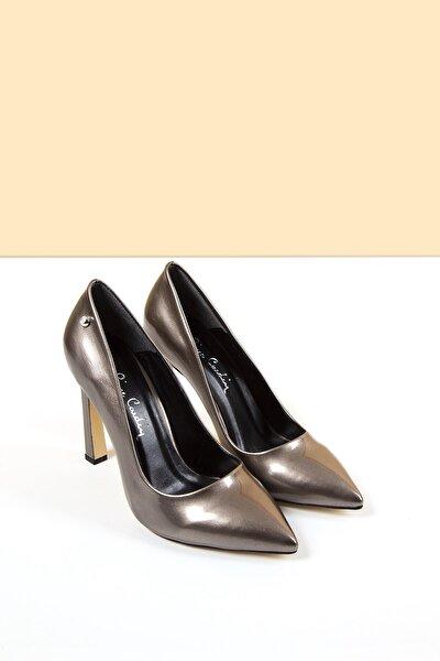 PC-50505 Rugan Platin Kadın Ayakkabı