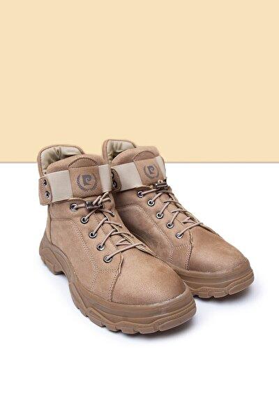 PC-30495 Suet Bej Kadın Spor Ayakkabı