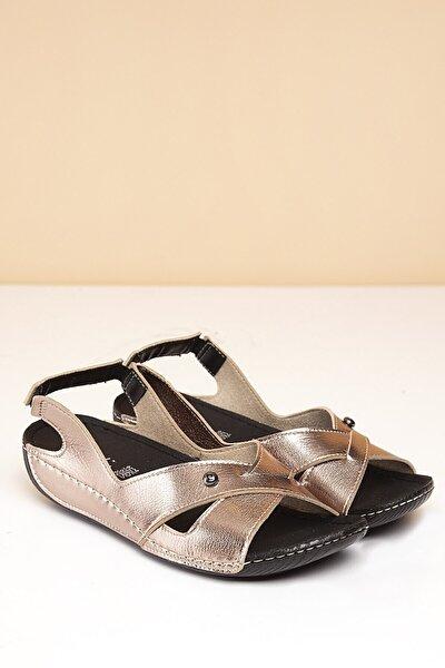 PC-1361 Platin Kadın Sandalet