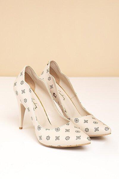 Kadın Bej Topuklu Ayakkabı Pc-50181 - 3066-02