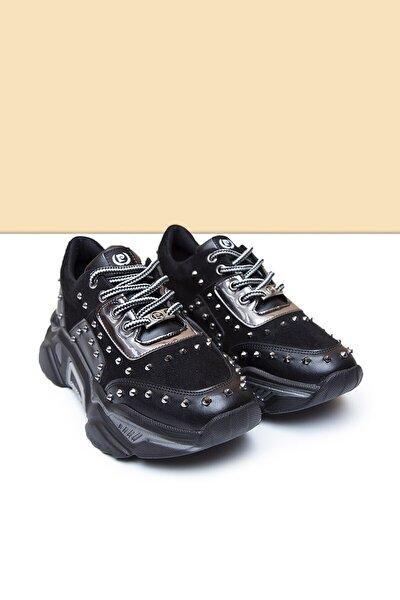 Kadın Siyah Ayakkabı Pc-30451 - 3455-01