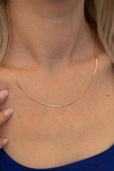 Kadın Tilki Kuyruğu Zincir Altın Kaplama Gümüş İtalyan Kolye PKT-TLYSLVR0126