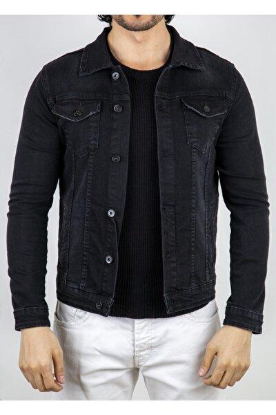Siyah Tırnaklı Erkek Kot Ceket