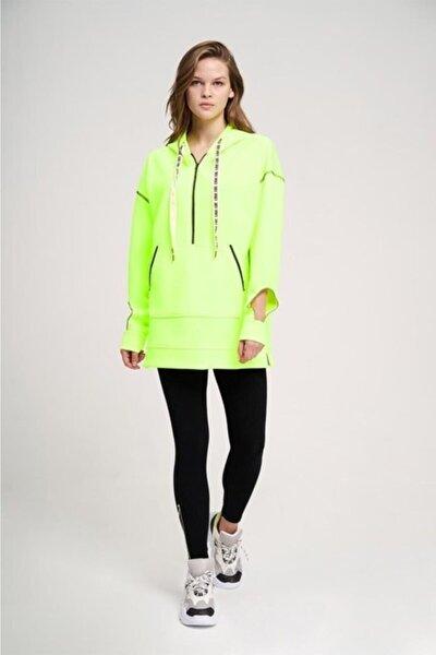 Kadın Yeşil Neon Oversize Sweatshirt