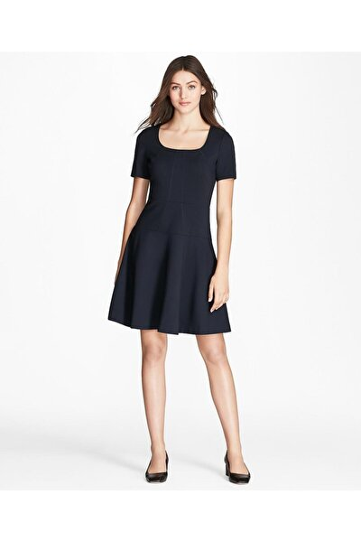 Kadın Lacivert Pilili Elbise