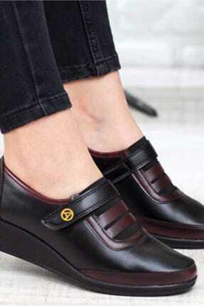 Kadın Bordo Ortopedik Ayakkabı