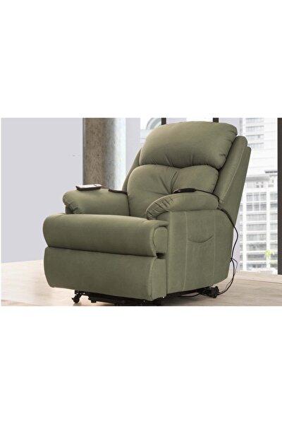Yeşil Vito Liftli Masajlı Baba Tv Koltuğu