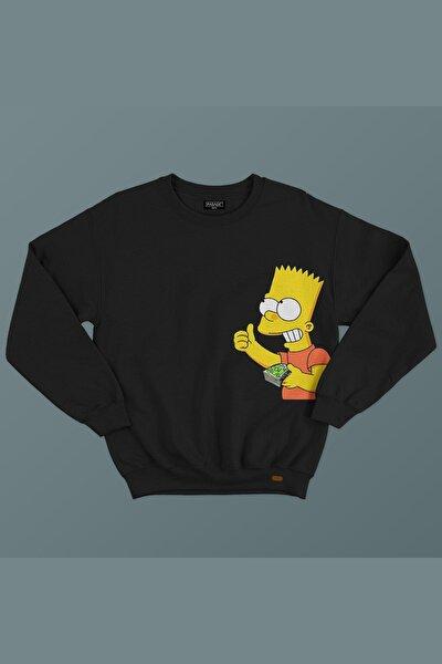 Rich Simpson Baskılı Sweatshirt