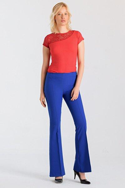 Kadın Saks Mavisi Pantolon 2412