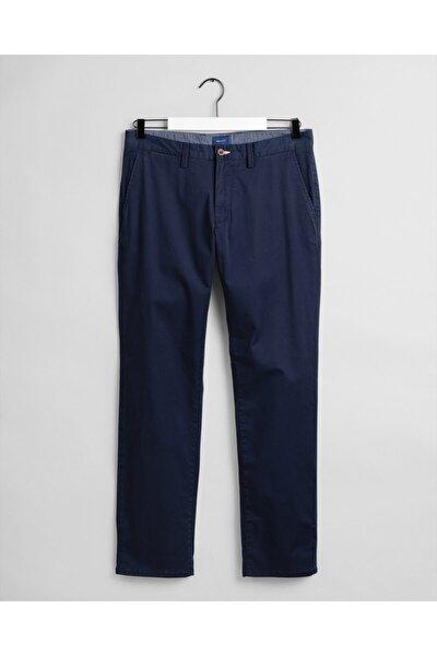 Erkek Lacivert Regular Twill Chino Pantolon