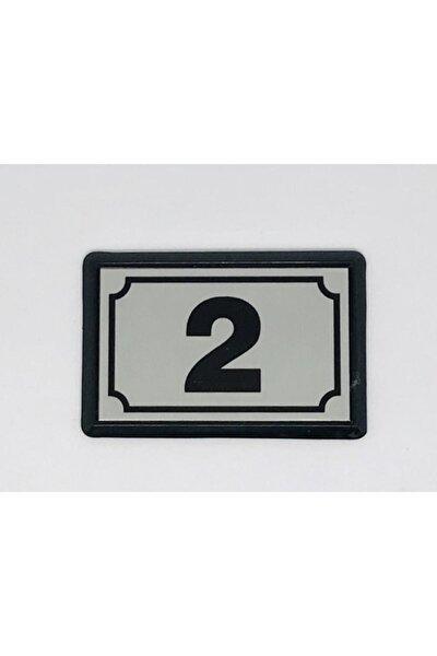 Yapışkanlı Kapı Numarası Alüminyum 2 No