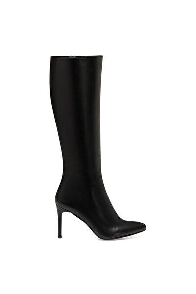 KAREN Siyah Kadın Ökçeli Çizme 100581989