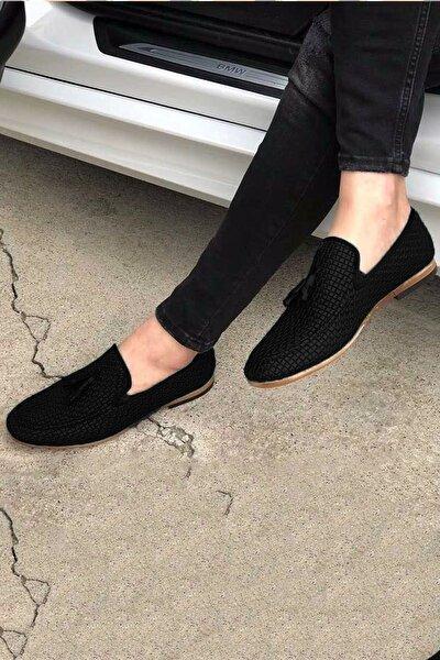 Erkek Siyah Püsküllü Klasik Ayakkabı