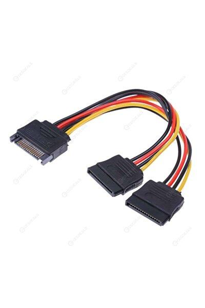Sata Power Çoklayıcı Y Kablo Ekran Kartı Güç Kablosu Bakır Kablo - Sata To 2 X Sata Power Çoklayıcı