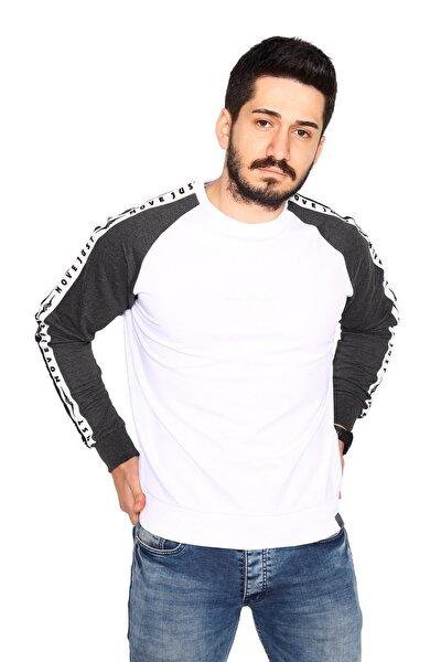 Siyah Sweatshirt 2 Iplik Reglan Kol Modeli