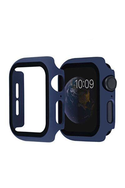 Kasa Ve Ekran Koruyucu Apple Watch Se 44mm Akıllı Saat Için Lacivert