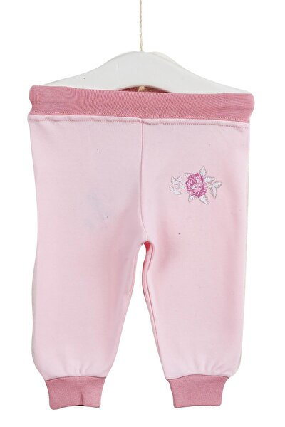 Kız Bebek Pudra Paçası Lastikli Pantolon Azz083123