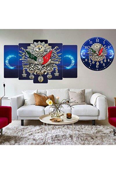Mavi Saat Osmanlı Tuğra Mavi Ay Yıldız Kombin Tablo