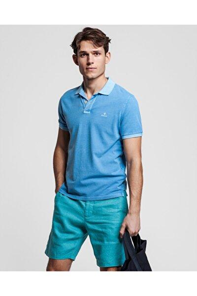 Erkek Mavi Regular Fit Polo