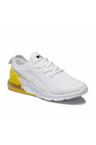 Beyaz Sarı Kadın Sneaker